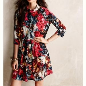 Anthro   Layla Mock Neck Floral Swing Dress MP